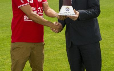 Victoria Hotspurs' Henrique Maciel wins award for April