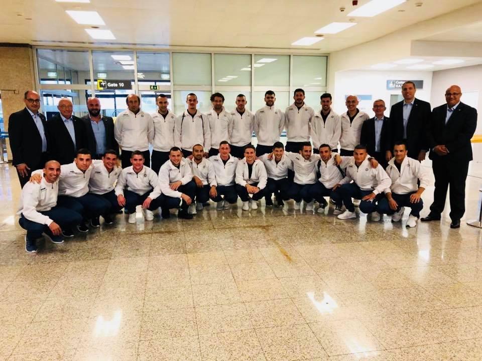 Gozo FA Team at the MIA.