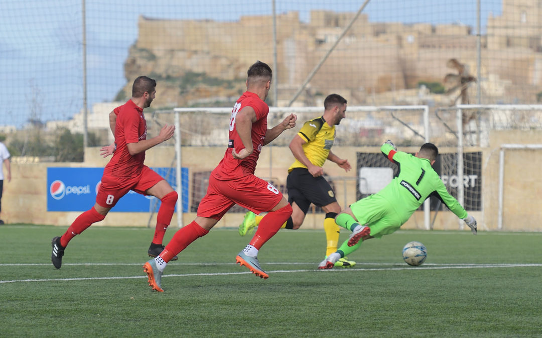 Xewkija score three goals in each half to reach the third round